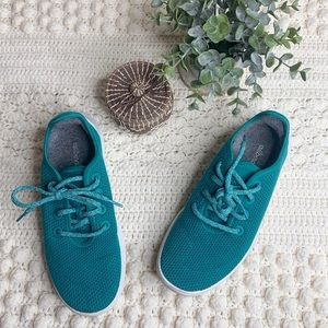 ALLBIRDS Women's Lace Up Tree Runners Teal 8